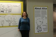 "Me in front of ""About Alice"""